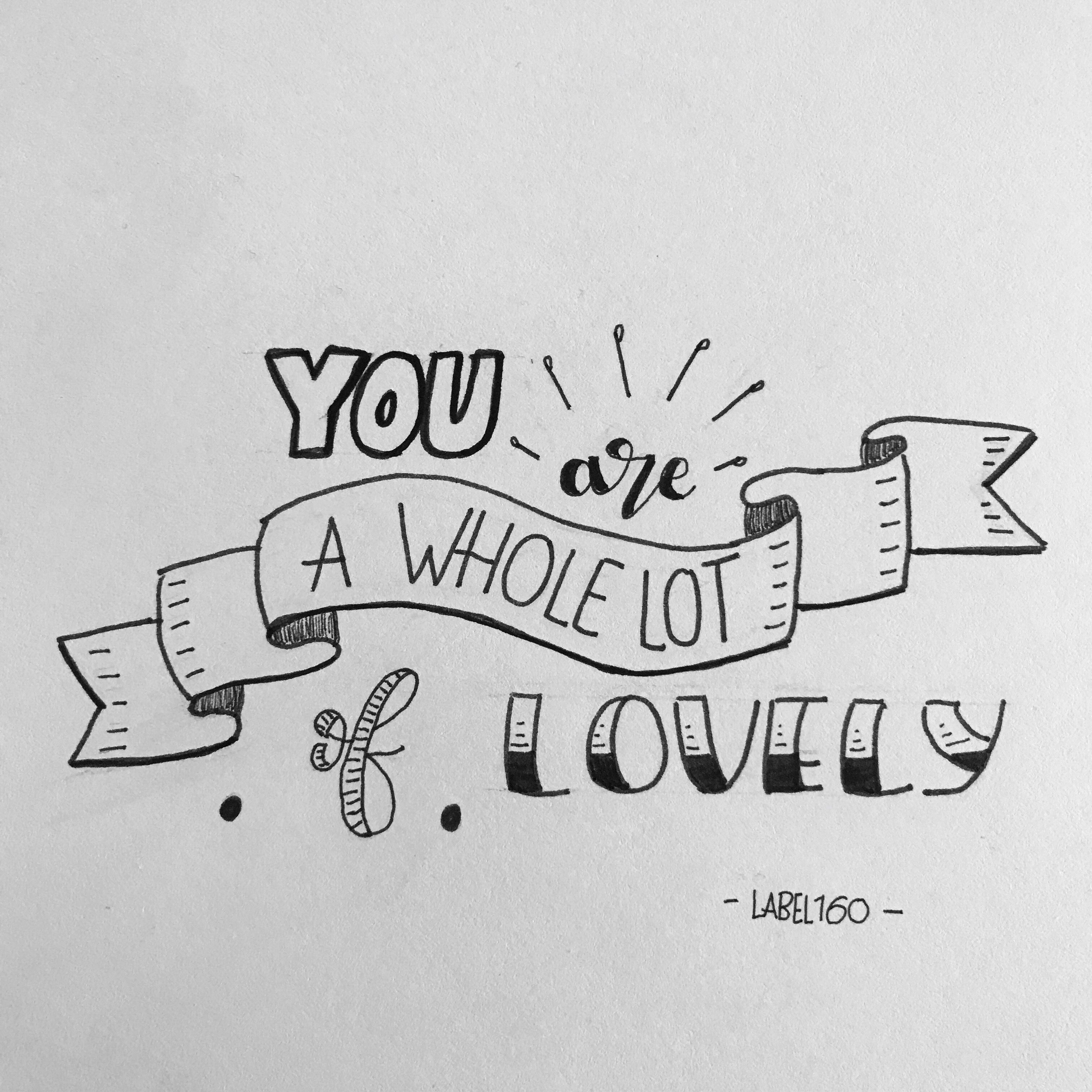 You are a whole lot of lovely b w typography pinterest