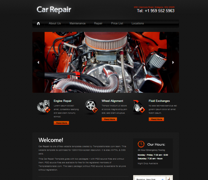 Free Web Templates Seven Green Design Free Car Repair Auto Template Free Download Free Web Template Free Html Templates Templates