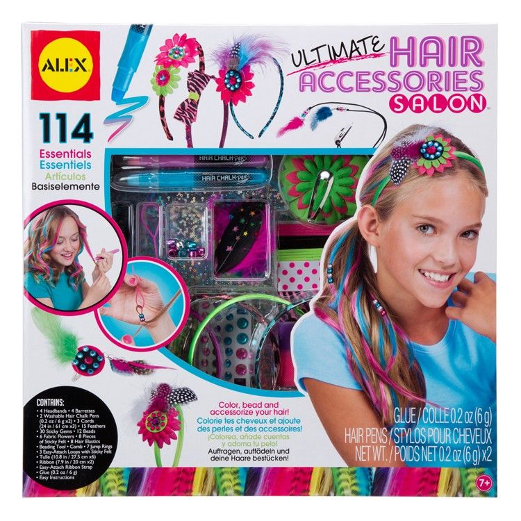 Ultimate Hair Accessories Salon Deluxe Craft Kit For Girls Craft Kits Alex Toys Hair Accessories Set