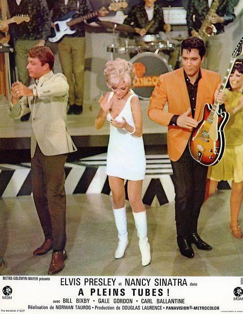 "1968 ELVIS PRESLEY in the MOVIES /""SPEEDWAY/"" Set PHOTO Nancy Sinatra BILL BIXBY"