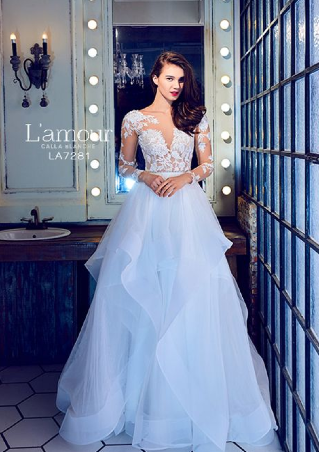 L'Amour by Calla Blanche LA7281 Laney Affordable bridal