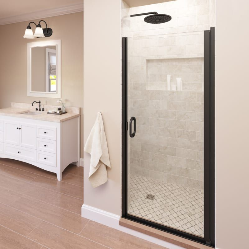Basco A0071 1cl Frameless Hinged Shower Door