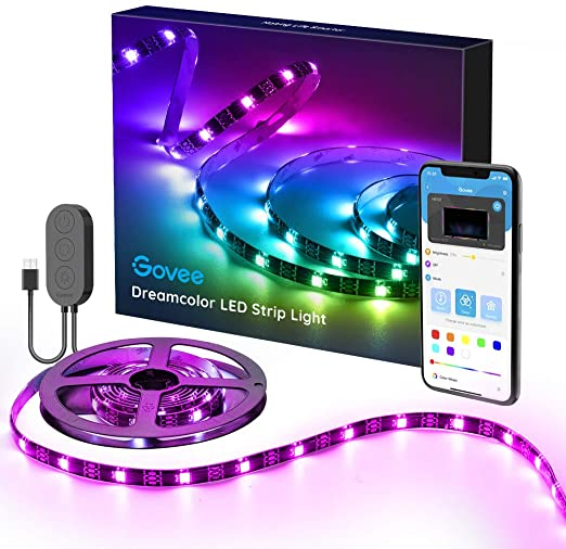 Amazon Com Dreamcolor Led Strip Lights With App Govee 6 56ft 2m Usb Rgbic Light Strip Built In Digital I Led Strip Lighting Strip Lighting Color Changing Led