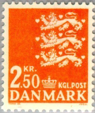 Znaczek: Coat of arms (Dania) (Small Coat of arms) Mi:DK 526,Sn:DK 499,Yt:DK 521,AFA:DK 528
