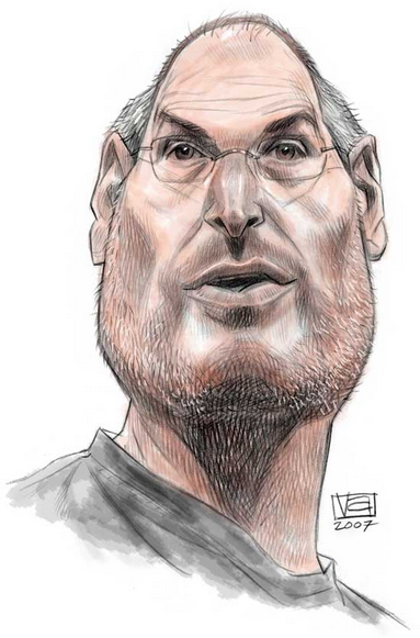 Caricaturist Homage Caricature Steve Jobs Celebrity Drawings