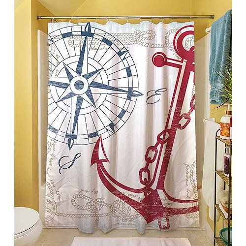Thumbprintz Shower Curtain Anchors Away White Amazon Dp B00KJ910VU Refcm Sw R Pi Q73xub16H32R2