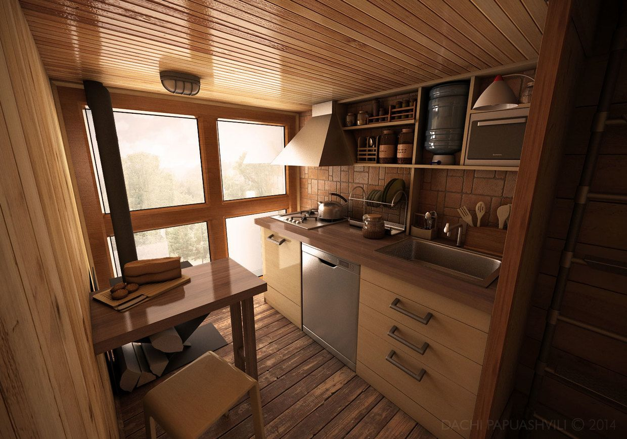Best Kitchen Gallery: Dachi Papuahvili's Micro Shipping Container Home Ships Tiny of Kitchen Shipping Container Homes on rachelxblog.com