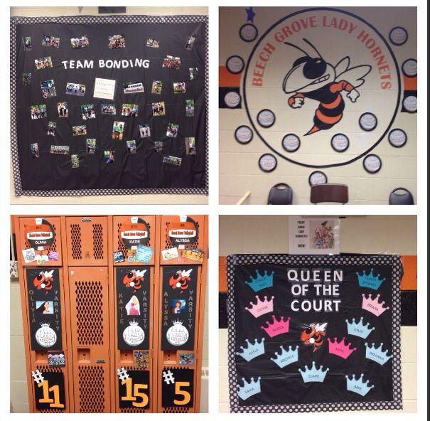 Decorating the Varsity Volleyball Locker Room