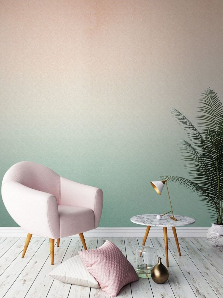Ombre Wandgestaltung mit Tapete Flur Pinterest - tapeten fur wohnzimmer ideen