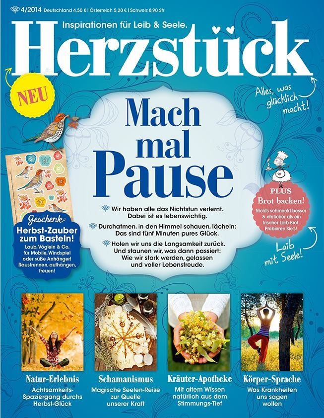 Herzstuck Ausgabe Nr 4 2014 Mach Mal Pause Herz Spass Pause