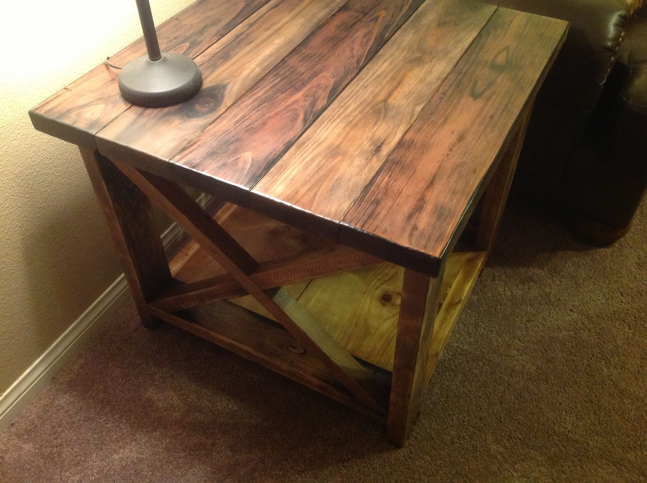 Rustic X End Table Rustic Elegance Pinterest