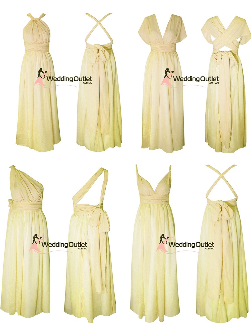 Pale lemon yellowl twist wrap bridesmaid dresses wedding wish pale lemon yellowl twist wrap bridesmaid dresses wedding ombrellifo Images