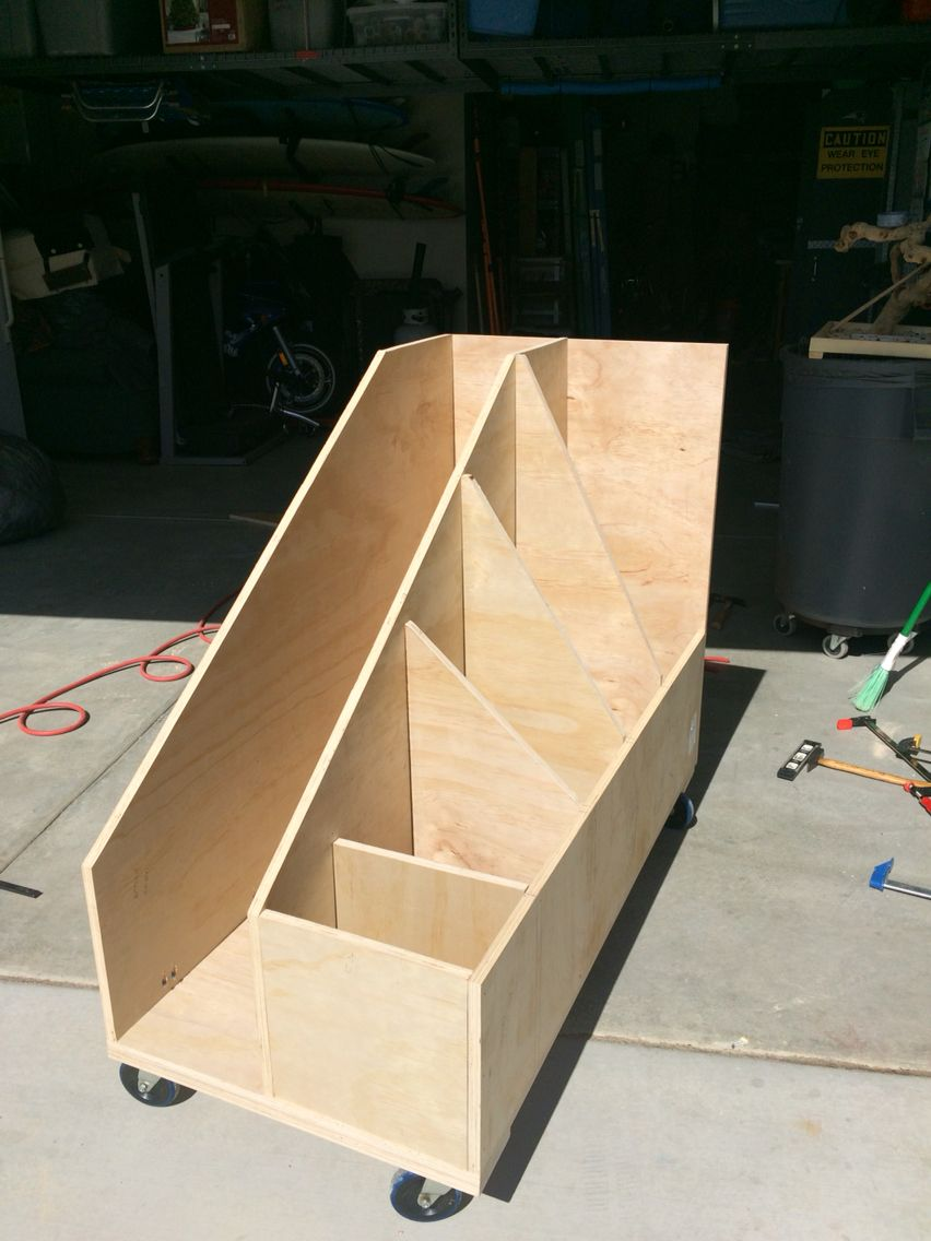 Rolling Scrap Wood Cart Woodworking Shop Diy