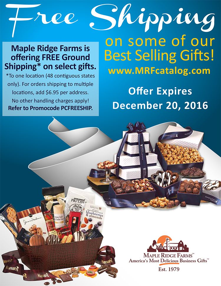 Xmas food gifts with free shipping