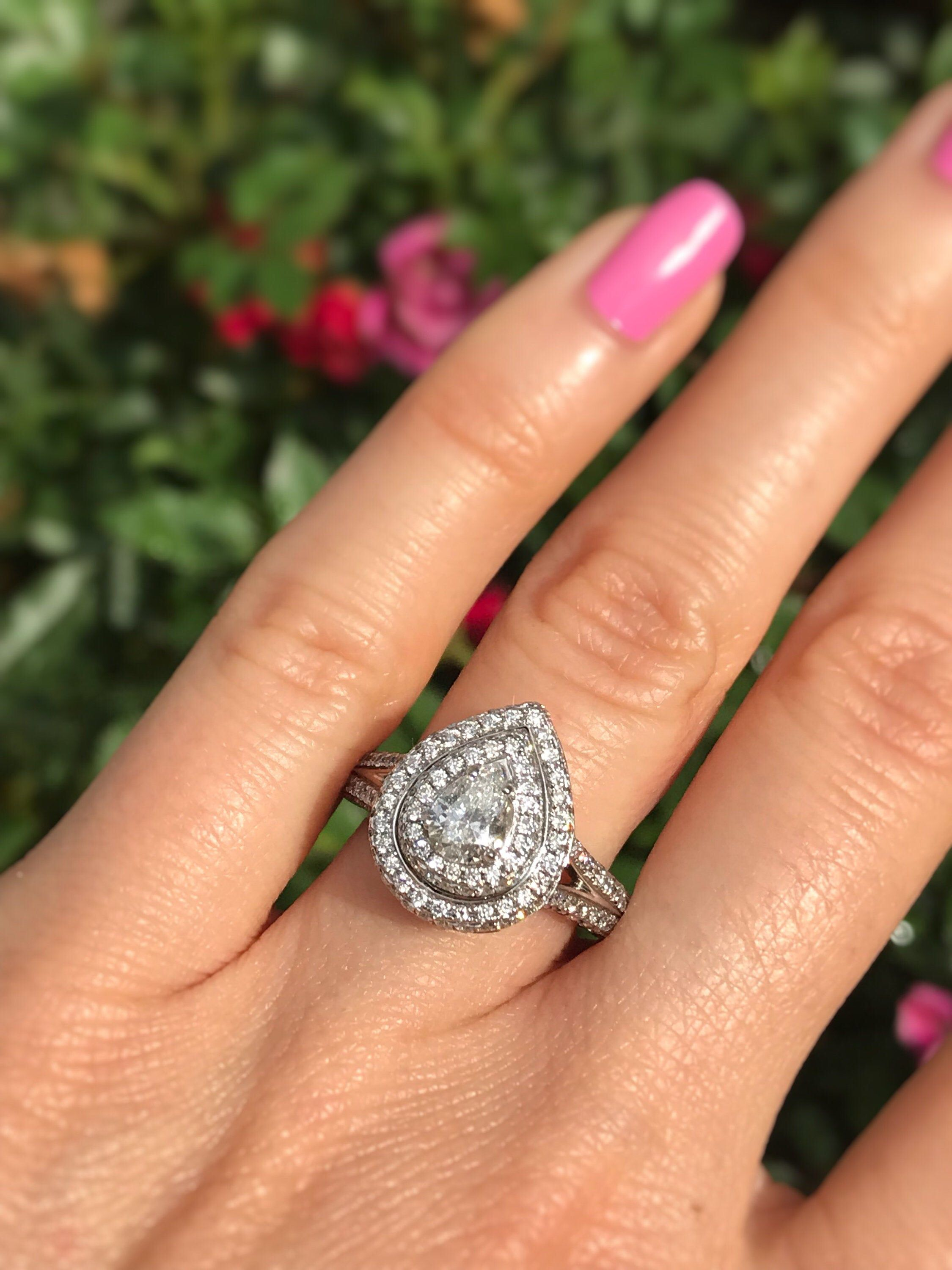 1 70 Carat Pear Shaped Diamond Engagement Ring Offering Layaway In 2020 Pear Shaped Diamond Engagement Rings Pear Shaped Diamond Rings