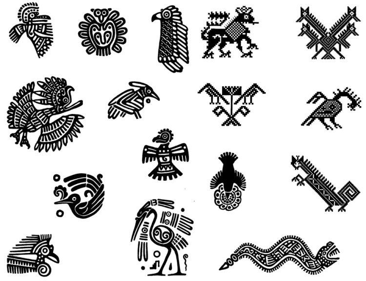кракелюр без этнические рисунки индейцев быстро, как все