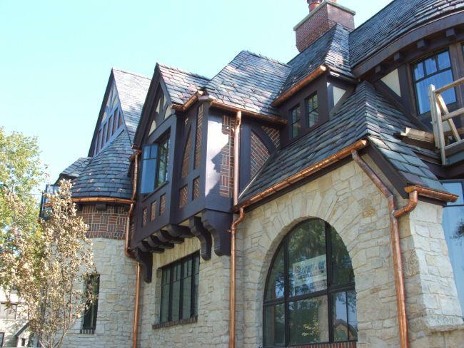 Copper Gutters And Their Great Versatility Copper Gutters Ranch House Additions House Gutters