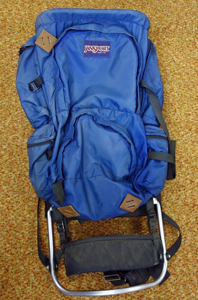 Jansport Jan Sport Blue Nylon Camping & Hiking External Frame ...