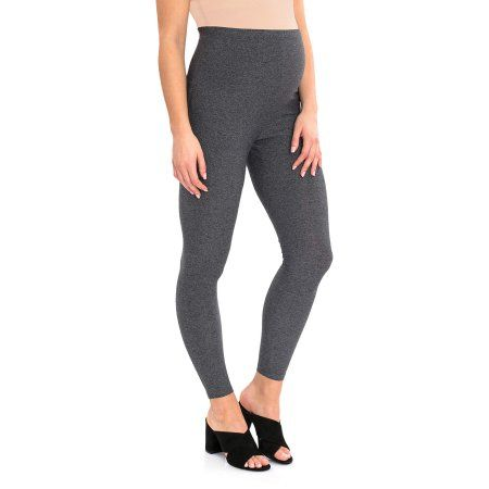 46099d4849a35 Great Expectations Maternity Over the Belly Essential Legging, Women's, Size:  XL, Gray