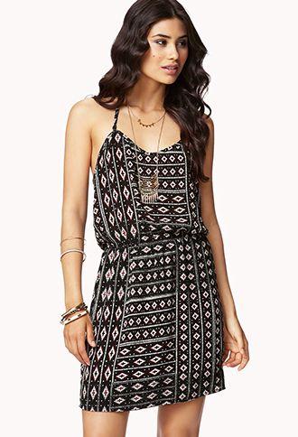 Geometric Layered Mini Dress   FOREVER21 - 2062720487