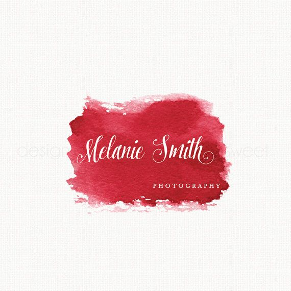 Watercolor Logo Photography Logo Watercolour by stylemesweetdesign
