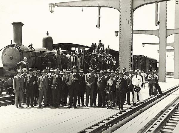 First Train across Sydney Harbour Bridge.