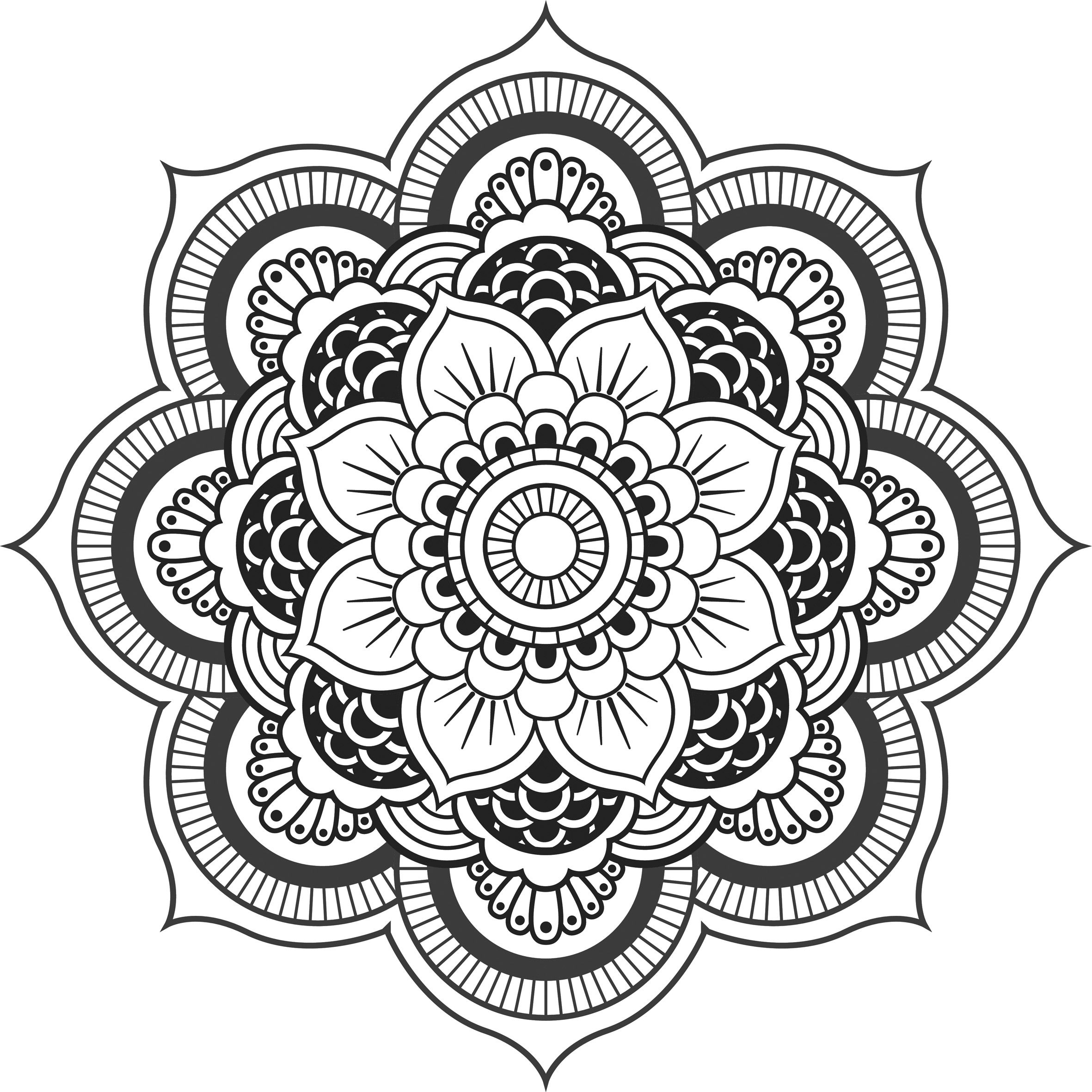 Lotus Flower In Hand Coloring Page
