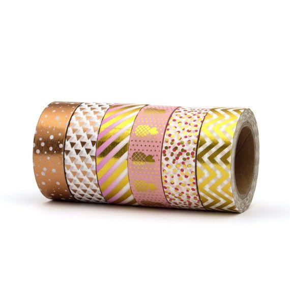Gold Washi Tape Set Metallic Foil Polka Dots by Hobbyhoppers - team 7 küchen preise