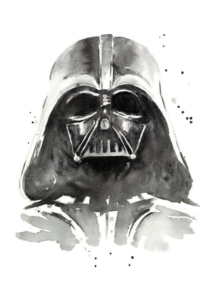 Darth Vader Art Print | pinturas | Pinterest | Pinturas