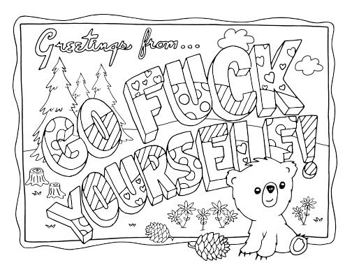 Swear Word Adult Coloring Pages