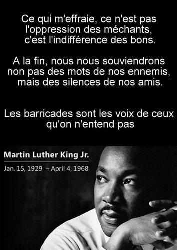 Indifférence des bons - Martin Luther King Jr | Citation, Citation humour,  Martin luther king