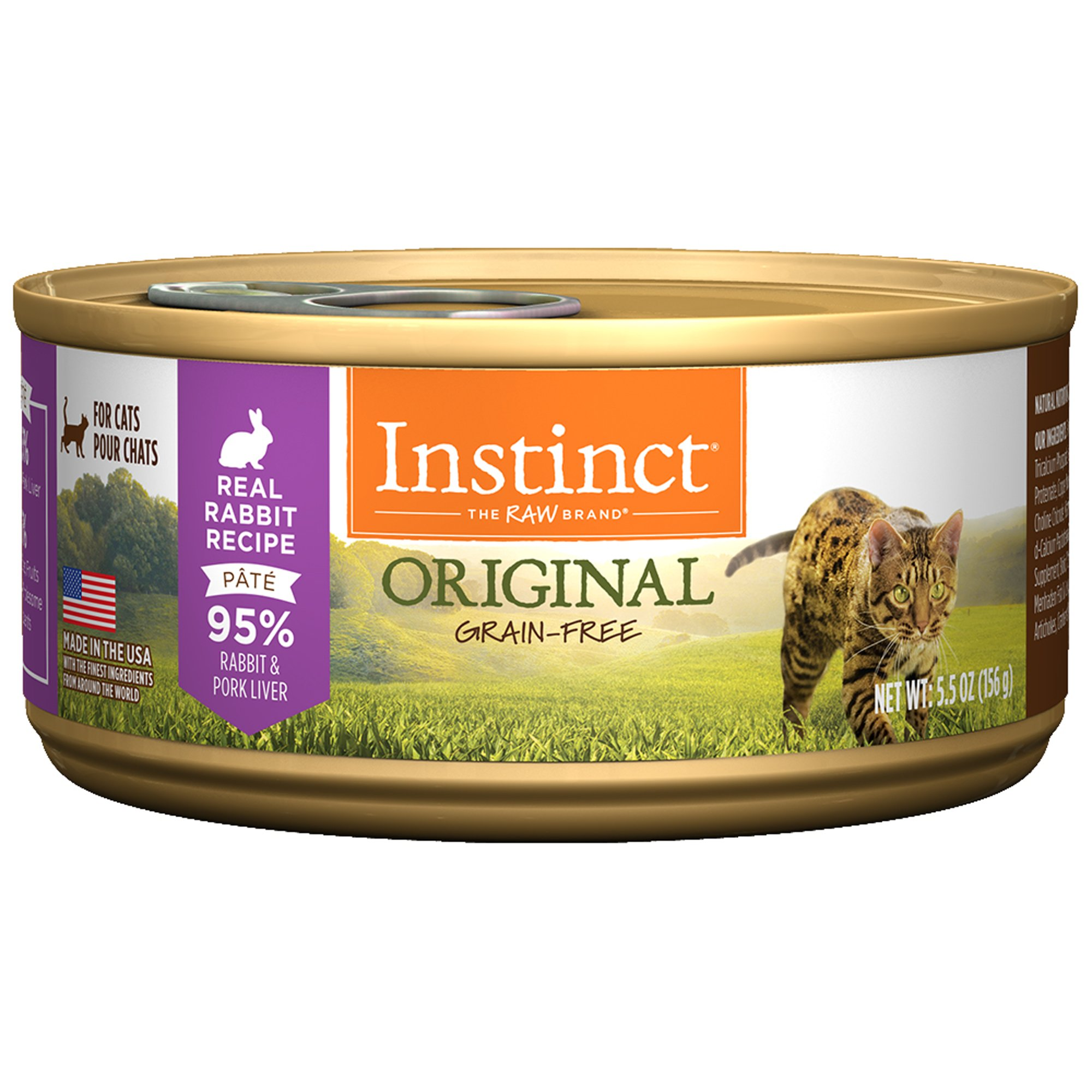 Instinct GrainFree Rabbit Canned Cat Food by Nature's