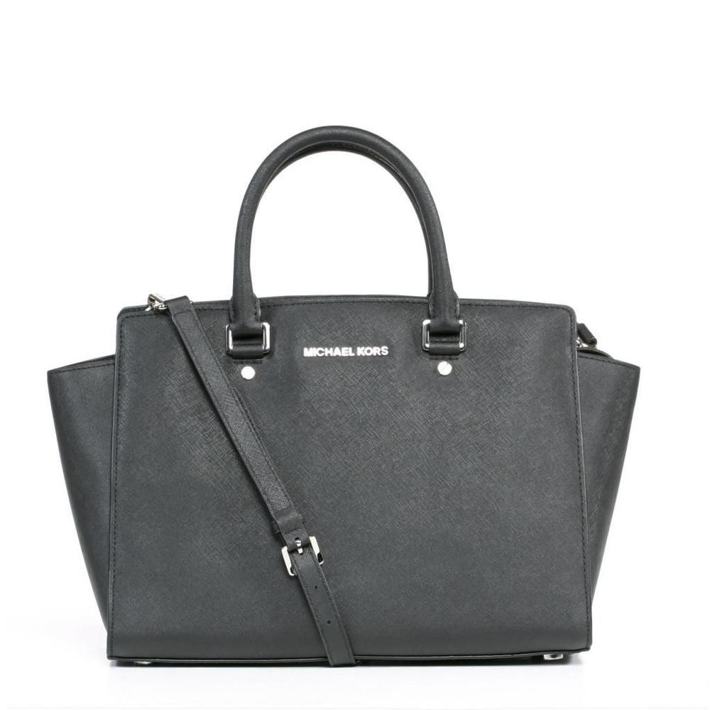 This simple yet elegant black Michael Kors Satchel Bag is perfect for the classy business woman looking to make a great first impression.