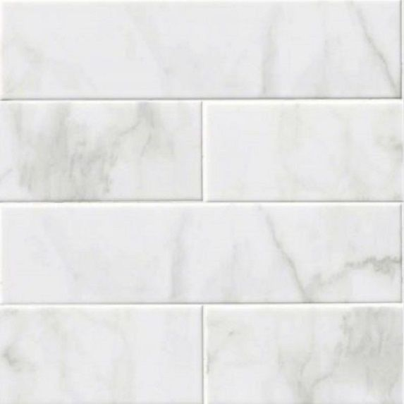 glossy white carrara bathroom kitchen 4