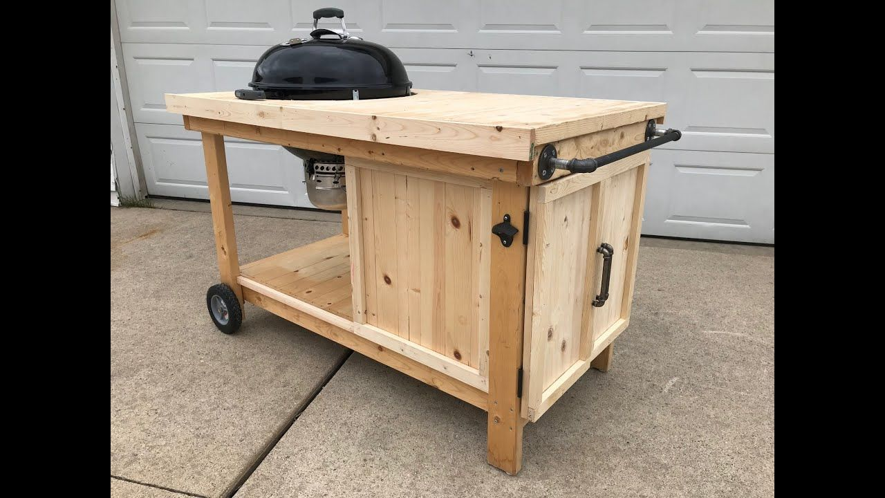 How To Build A Bbq Cart For A 22 Weber Kettle Youtube Weber