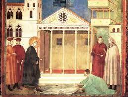 Giotto, Omaggio di un uomo semplice, storie di San Francesco, Basilica di Assisi