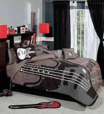 Rocker bedrooms for teen boys rock   roll bedroom decor ideas also rh pinterest