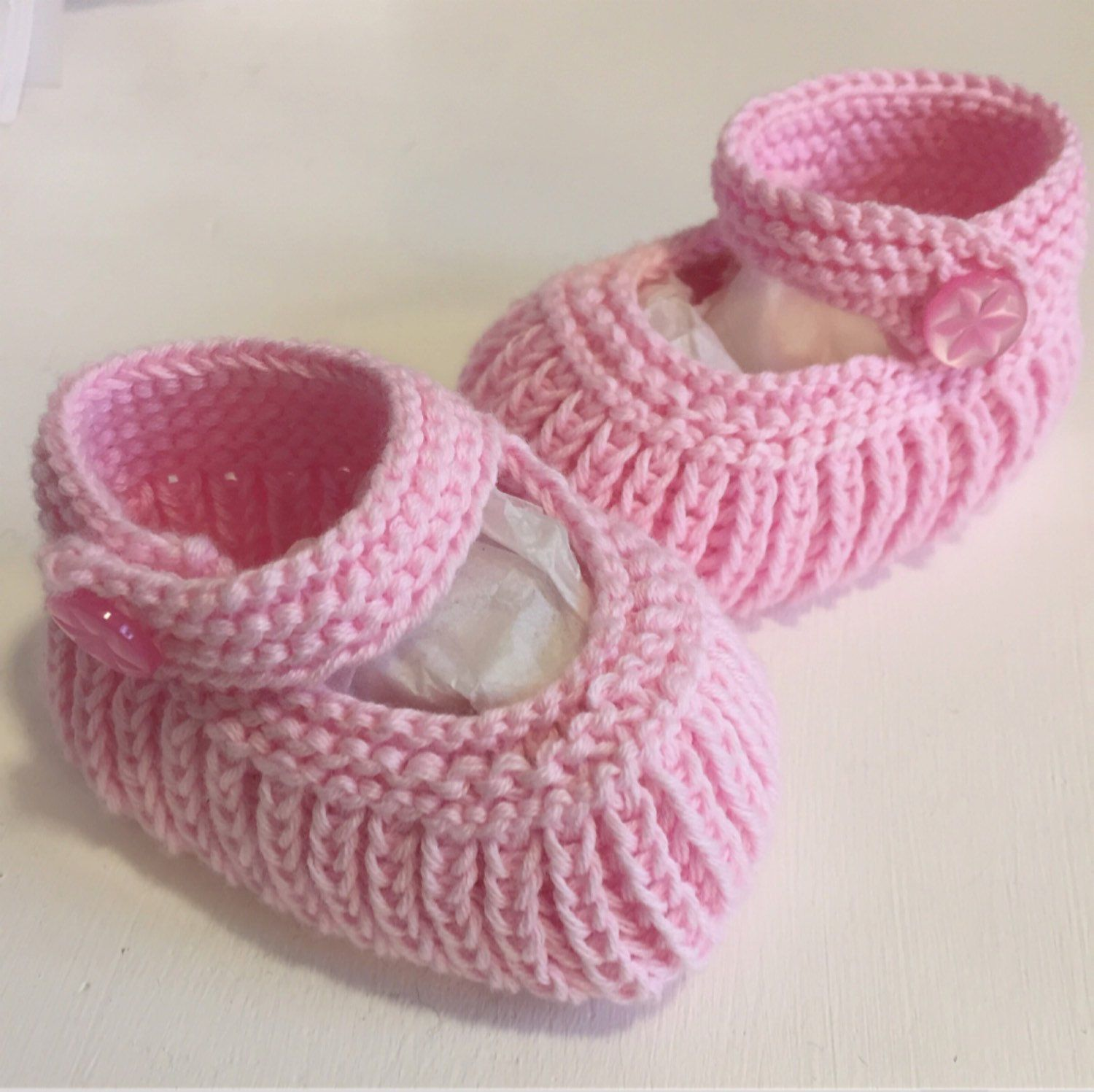 Baby Girl Booties Infant Shoes Pram Shoes Baby Shower Gift Pink
