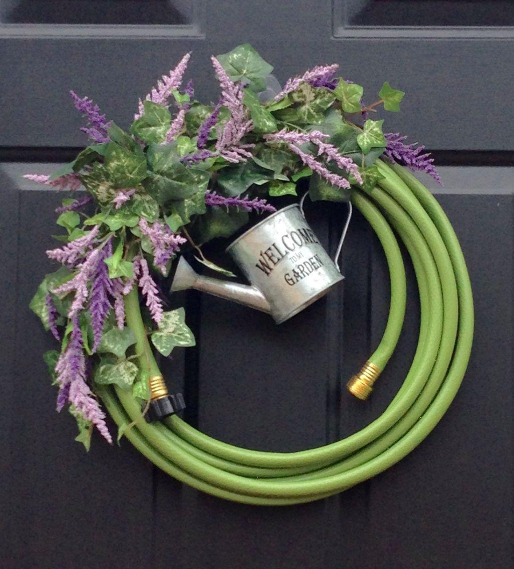 Backyard Ideas For Spring Decorating 6 Tips To Make: Garden Hose Wreath, Wreaths, Door