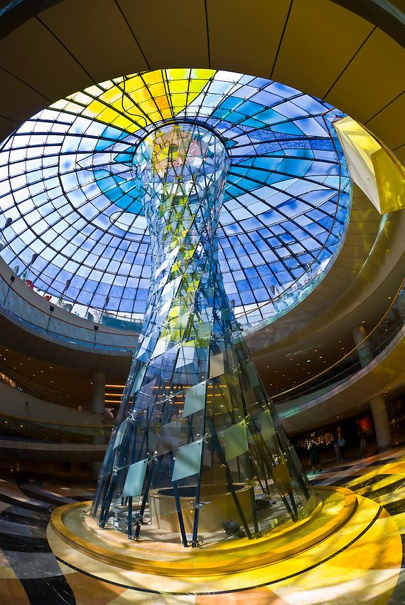 Glass Sculpture Wafi City Mall Dubai Uae Glass Art