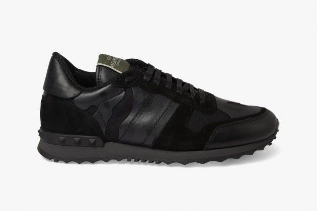 Valentino Black Camouflage Sneakers