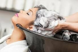Image result for shampooing hair in salon