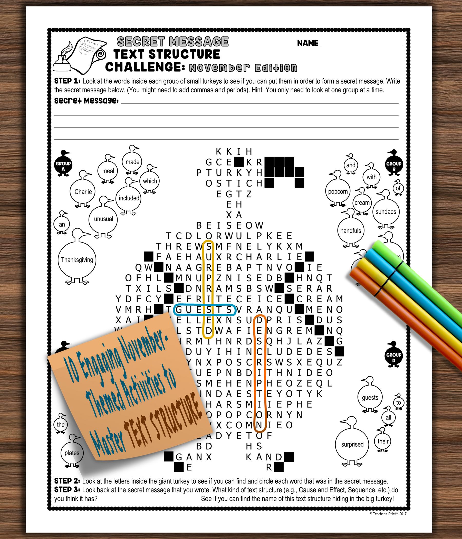 Informational Text Structure Nonfiction Structure