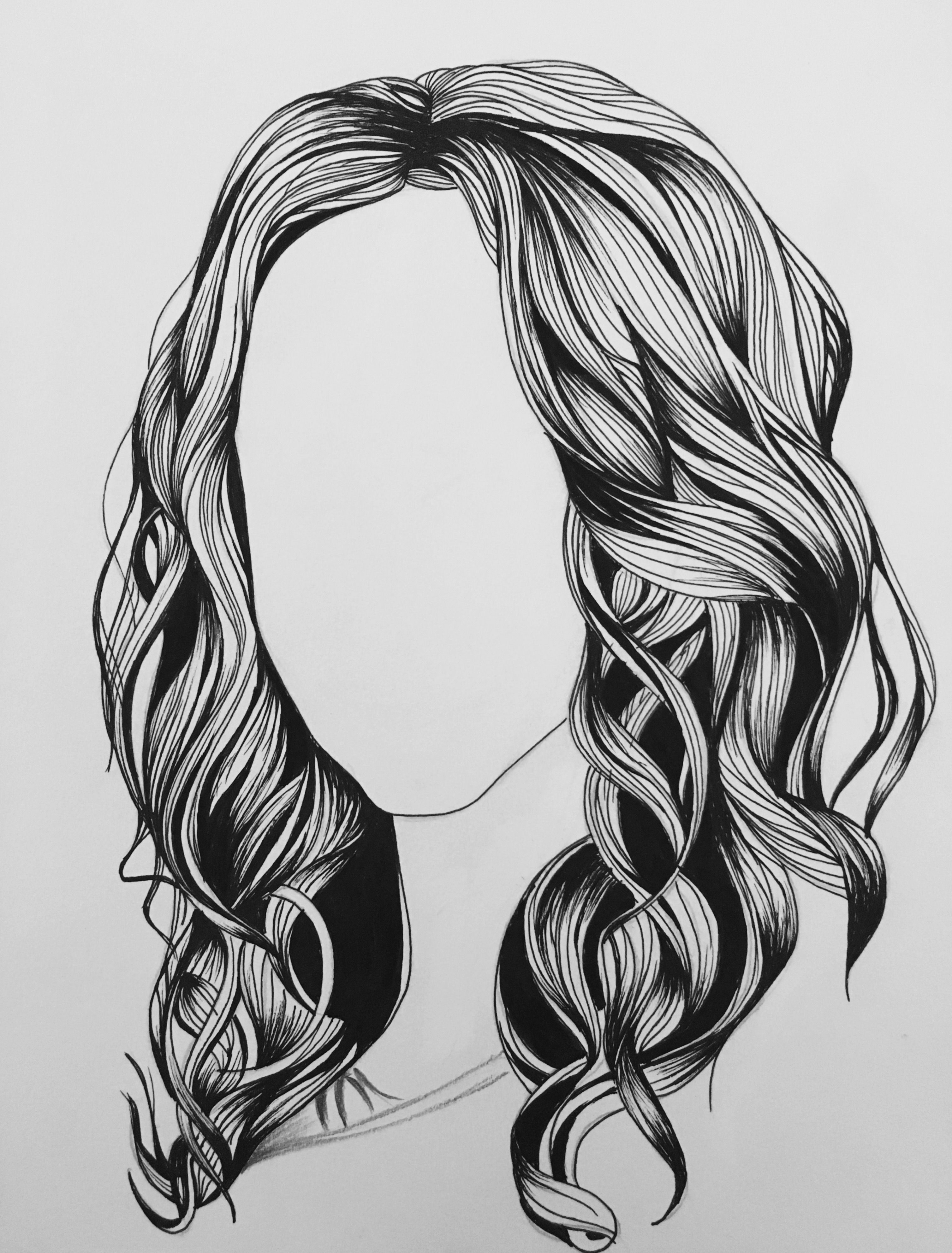 How To Draw Waves Hair : waves, Distinctive, Feminine, Waves, Drawing, Artist, Portfolio,, Hair,, Brush