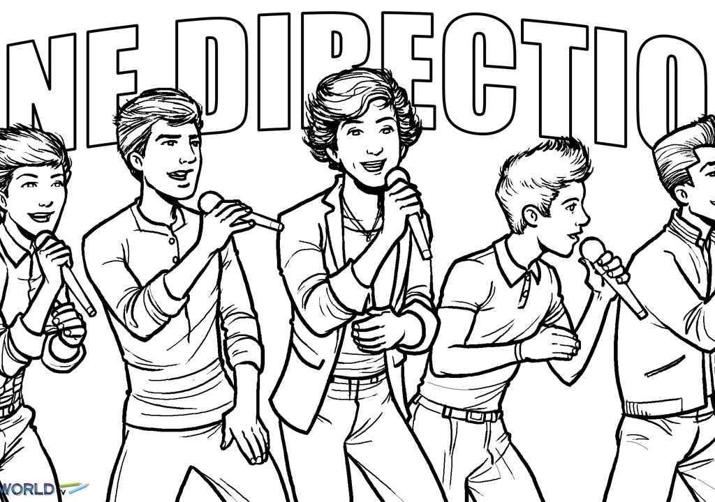 One Direction One Thing Colouring Pages Coloring Pages