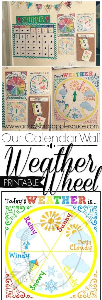 Our Calendar Wall: Learning The Weather | Kindergarten ...