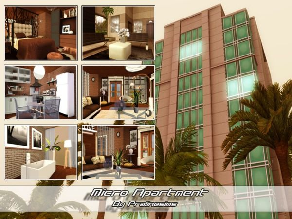 Micro apartment by pralinesims sims 3 downloads cc for Apartment design sims 3