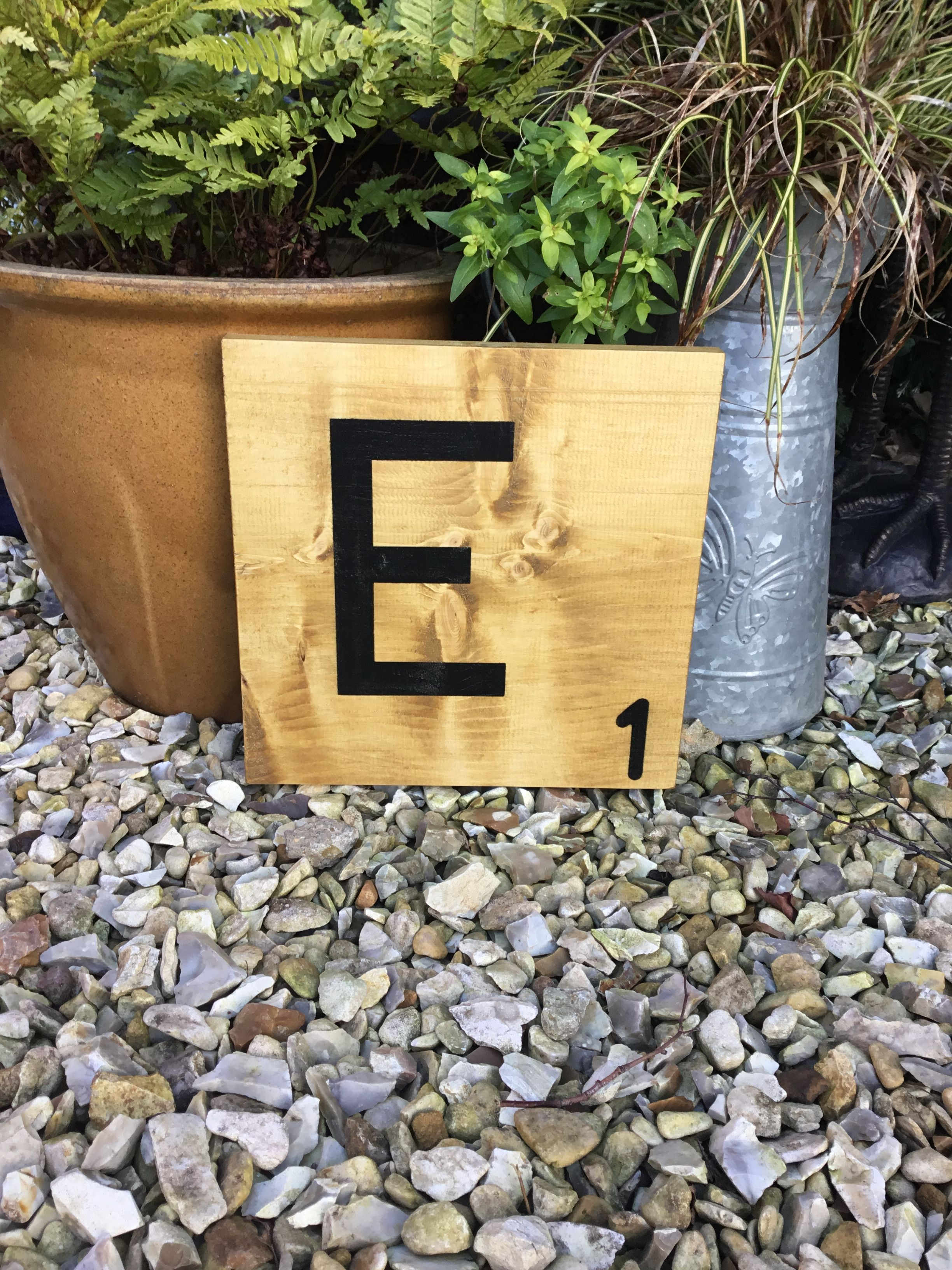 Our large wooden scrabble letters look great as a single letter or ...