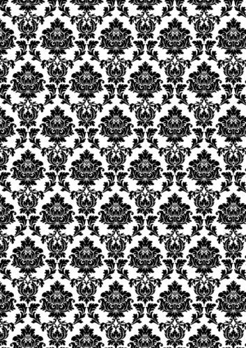 Black White Printed Wallpaper A4 Sized Edible Wafer Paper Icing Sheet