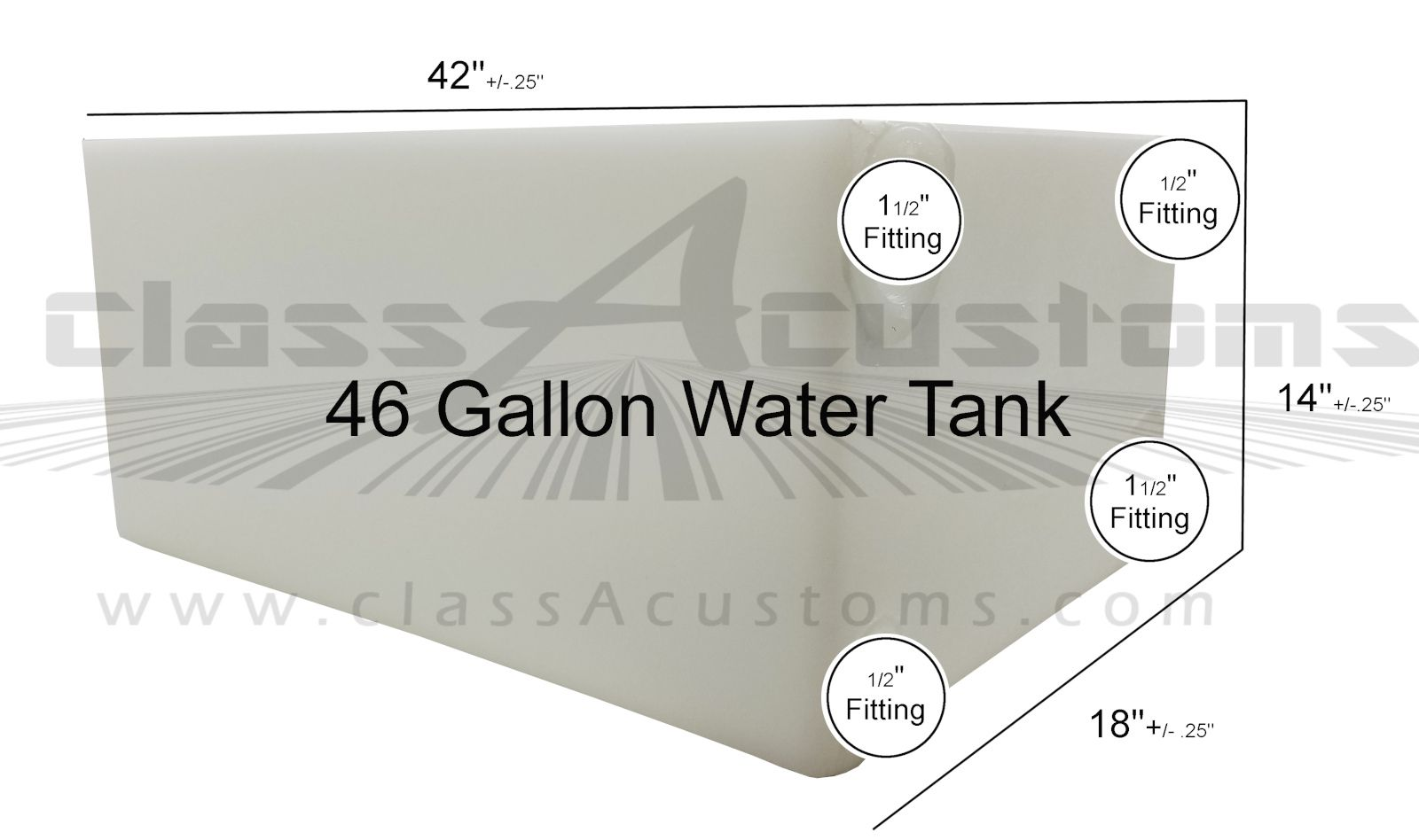 46 Gallon Fresh Gray Water Holding Tank Classacustoms Class A Customs Elkhart Indiana Concession Trailer Rv Food Truck Road Water Tank Tank Welcome To Class